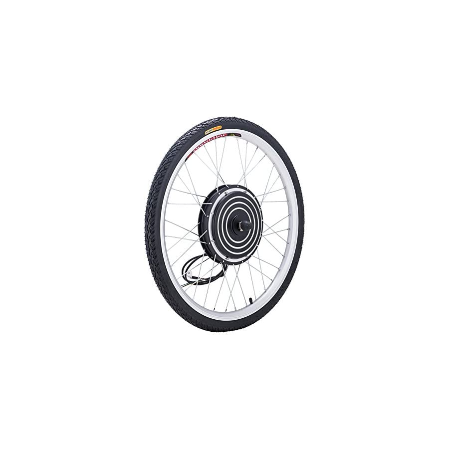 """Pinty 26"""" Front or Rear Wheel Ebike Hub Motor Conversion Kit with Dual Mode Controller, 36V 500W or 48V 1000W"""