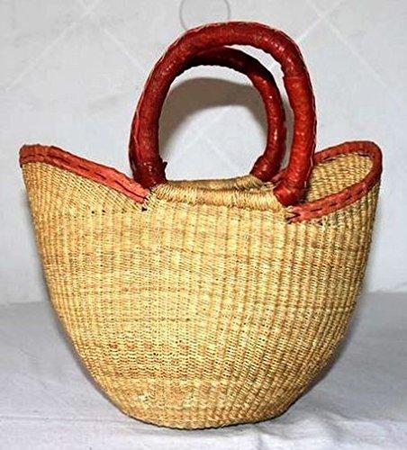 Africa Art Decoration–Mezzo medio borsa in paglia intrecciata Tendence 7326-l2C-2403 Amplia Gama De Línea 4R98pvn