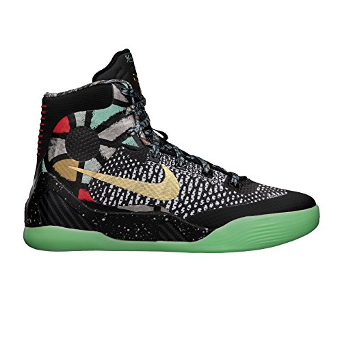 Nike Kid's Kobe IX Elite GS, Maestro-BLACK/METALLIC GOLD-WHITE, Youth Size 6.5