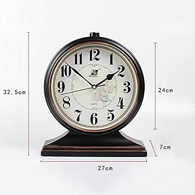 Relojes de mesa Reloj Retro Negro Reloj de Pulsera silencioso ...