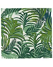Talking Tables Fancy Frond Fiesta Tropical Small Dessert Paper Napkins for a BBQ, Luau, or Summer Party, Multicolor