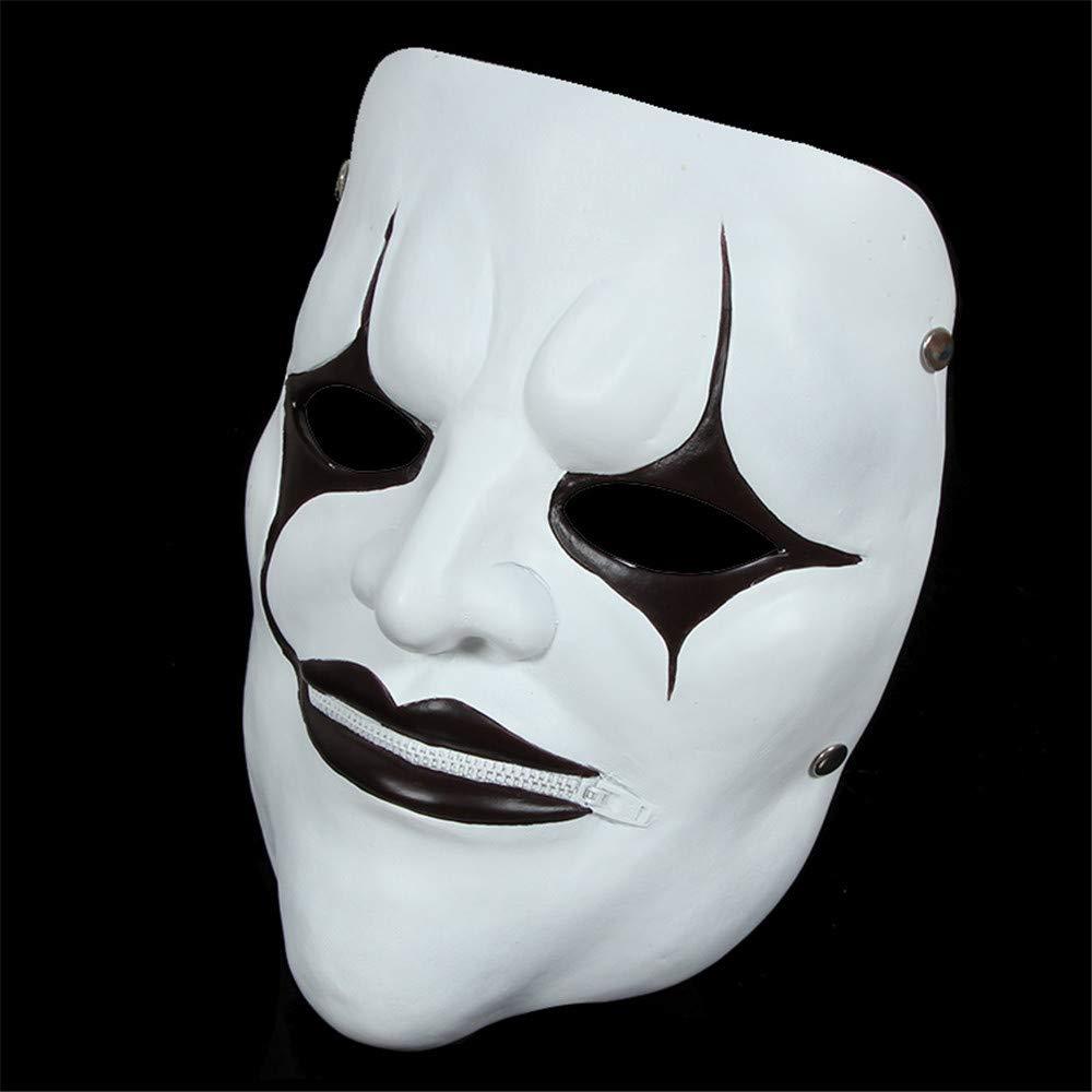 Zllyl Masken Slipknot-Serie Maske Film Thema Maske Live-Knoten Clown, Reißverschluss Mund