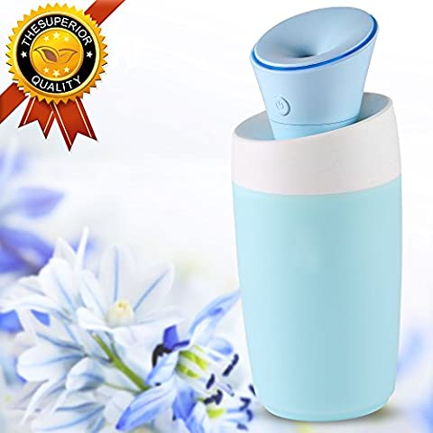 Mini Humidifier, LBell USB Portable Cool Mist Water Humidifier Silent Air Purifier with Auto Shut-off& Water Bottle for Travel Office Desk Desktop Car Baby Room (Baby Humidifier Air Purifier)