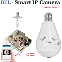 Wireless Panoramic HD IP Camera, Fisheye Lens 360°Security Camera Light Bulb with night vision, Home Security System with Real Time Monitoring and Intercom for Android IOS APP