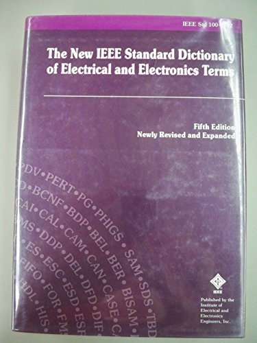 IEEE Std 100-1992, IEEE Standard Dictionary of Electrical and Electronics Terms