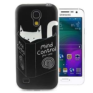 Para Galaxy S4 mini , ivencase Novela Cool Personnalité Lindo Style Flexible Suave TPU Funda Carcasa Tapa Protectora Case Cover Perfecto Fit Para Samsung Galaxy S4 mini / i9190 / i9192