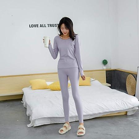 E3e4m Conjunto Térmico Mujer Ropa Interior de Manga Larga Camisa y Calzoncillos Largos Pantalones Leggins Termo Activo Set Haz Ejercicio de esquí,Púrpura,3XL: Amazon.es: Hogar