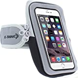 light blue and grey otterbox - Sports Armband: Cell Phone Holder Case Arm Band Strap With Zipper Pouch/ Mobile Exercise Running Workout For Apple iPhone 6 6S 7 Plus Touch Android Samsung Galaxy S5 S6 S7 Note 4 5 Edge LG HTC Pixel