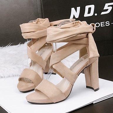 Enochx sandali da donna primavera estate comfort Suede Dress Chunky Heel, borgogna, us5.5/EU36/uk3.5/CN35