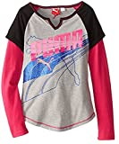 Sports Lifestyle by Puma Big Girls Long Sleeve Raglan Shirt - Gray (4)