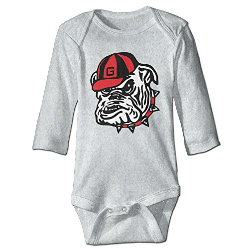 JJVAT University Of Georgia Bulldog Long Sleeve Playsuit For 6-24 Months Newborn Baby Size 18 Months Ash (Spy Gear Camera Car compare prices)