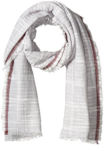 BCBGMAXAZRIA Women's Checkered Wrap, Glacier, One Size