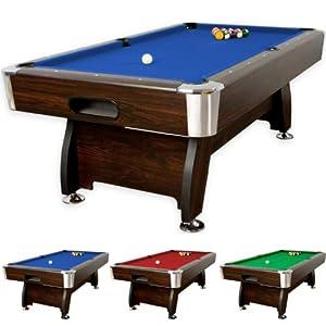 7 ft Billardtisch Premium, dunkles Holzdekor, 3 Farbvarianten, Maße ca. 2140...