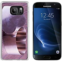 Luxlady Samsung Galaxy S7 Clear case Soft TPU Rubber Silicone IMAGE ID 26037820 Iron heart for cooking over wooden background