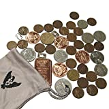 #6: Vx Investments Ultimate Coin Bag. 25 Wheat Pennies, 1 Ounce Copper Bullion, 4x 1/4 Ounce Copper Rounds, 3x 1 Gram Silver Bars, and 10 World Coins.
