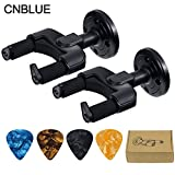 Guitar Hanger Hook Holder Stand Rack Wall Mount Display Fits all size Guitars, Bass, Mandolin, Banjo (2pcs)