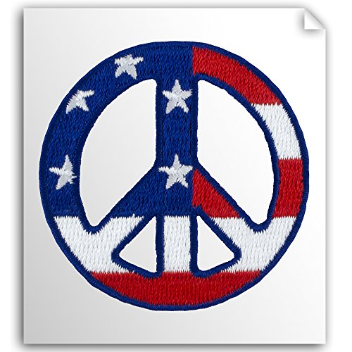 Self Stick Appliques (Embroidered American Peace Sign Self-Stick Applique Three-Pack)