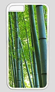 Bamboo Forest DIY Hard Shell Transparent Special For iphone 6 Plus Case
