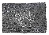 Style Basics Super Absorbent Indoor Doormat Dog Rug for Pets (Grey Dog...