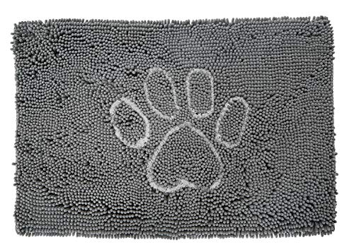 Style Basics Super Absorbent Indoor Doormat Dog Rug for Pets (Grey Dog Paw, 30 X 20)