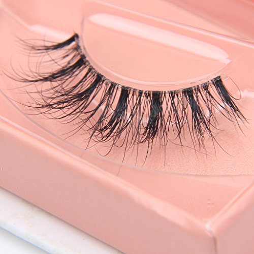 - Arimika Handmade 3D Mink Fake Eyelashes -Reusable with Clear Invisible Flexible Band, Lightweight Fluffy Natural Looking