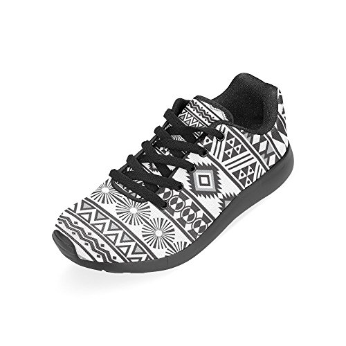 Size Casual InterestPrint Pattern 6 Lightweight Print Sneakers Shoes 15 Athletic Women's US Striped On Running Tribal ppqwaf81