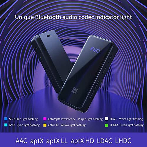 c8ae81fe3cc FiiO BTR3 HiFi Bluetooth Receiver with aptX/aptXHD/aptXLL/LDAC/AAC Support,  Portable Mini Music Audio Receiver for Home TV,Speaker,Car Stereo, NFC  Pairing, ...