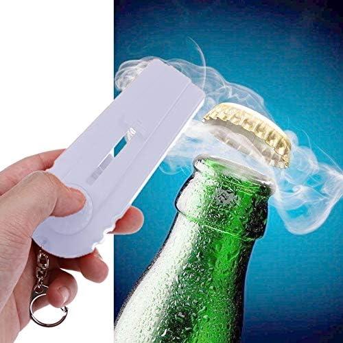 Compra Leluckly1 Estuche de Cocina Multifuncional Abrebotellas Lanzador Cerveza Abrebotellas Tiro Llavero Volador Anillo (Blanco) (Color : Blanco) en Amazon.es