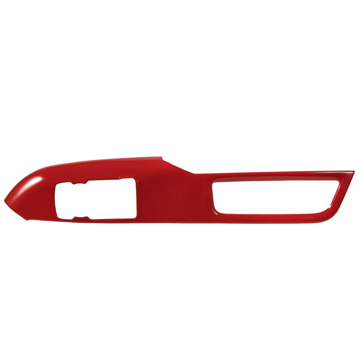 Camoo Red Interior Door Handle Window Lift Switch Button Panel Decoration Frame Steel For Ford Mustang 2015-2019