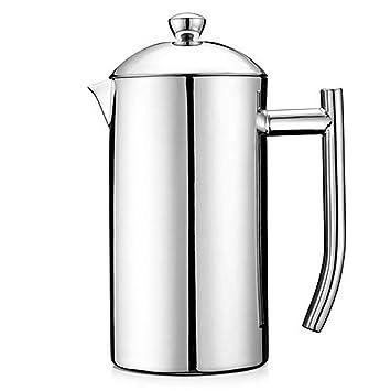 Fabricante de café Prensa francesa Café Tetera Cafetera con filtro Máquina de café de pared doble