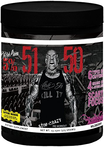 Rich Piana 5% Nutrition 5150 Pre Workout (Wildberry) 13.23OZ (375 Grams) 30 Servings (International Version)