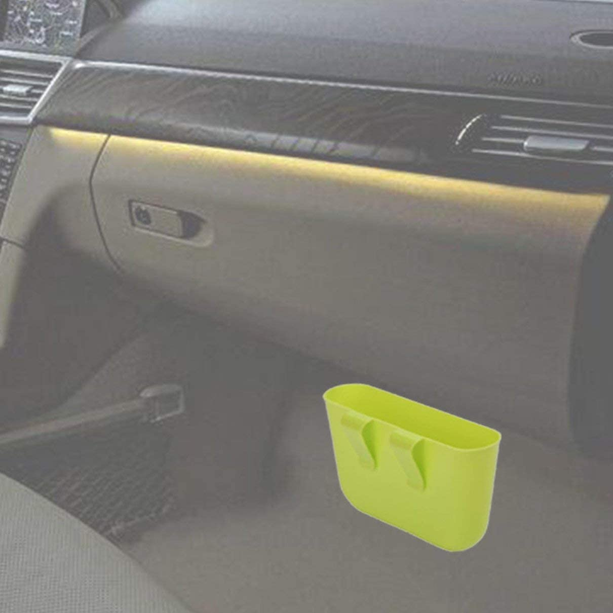 Car-Mounted Trash Can Creative Supplies Storage Compartment Car Small Garbage Bin Full-Size Multi-Function Storage Box