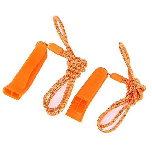 SUNVORE Safety Whistle Marine Whistle with lanyard (6 pack) for Boating Camping Hiking Hunting Emergency Survival Rescue