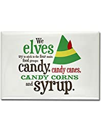 Acquisition CafePress Elf Candy Food Groups Rectangle Magnet - Standard Multi-color compare