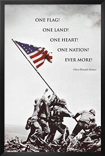 - Buyartforless American Flag at Iwo Jima Framed Poster 26 x 38in