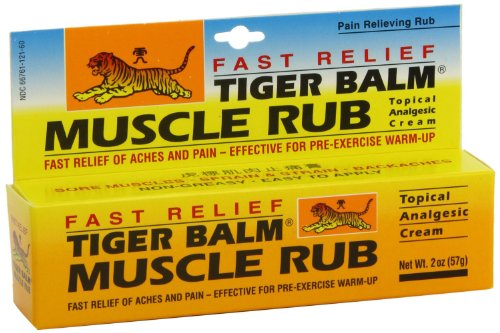Tiger Balm Fast Relief Muscle Rub Topical Analgesic Cream, 2 (Topical Analgesic Ointment)
