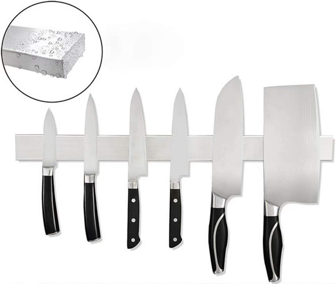 20 Inch Stainless Steel Magnetic Knife Strip with Multipurpose Use as Knife Holder, Knife Rack, Knife Bar, Kitchen Utensil Holder, Tool Holder, Screw-free to install