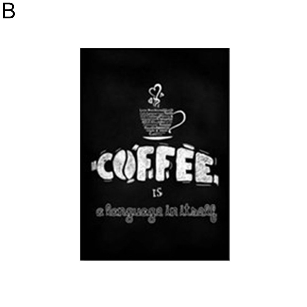856store Creative Nordic Simple Blackboard Drawing Printed Painting Cafe Coffee Shop Wall Decor - 21cm x 30cm B