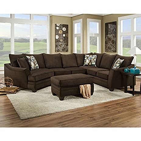 chelsea home furniture campbell 3 pc sectional with right