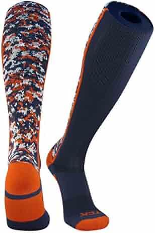 2b79fd611c4 TCK Digital Camo Elite Navy Blue Orange Knee High Baseball Football Soccer  Socks