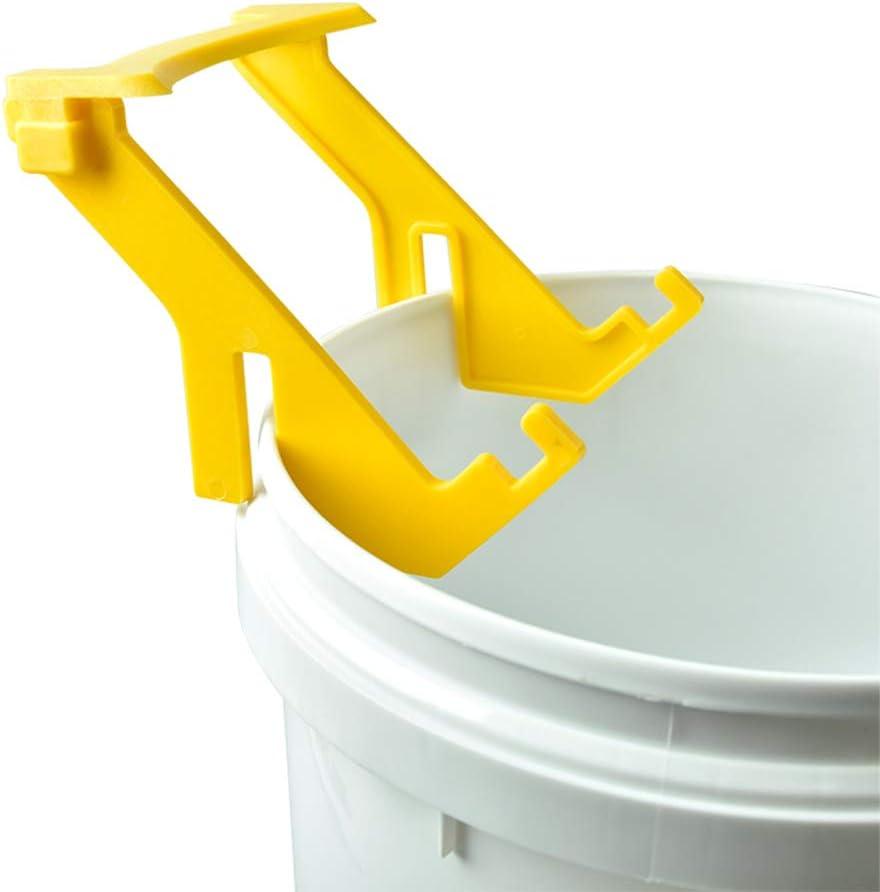Plastic Bee Honey Bucket Stand Rack Frame Grip Holder Beekeeping Beekeepers Tool