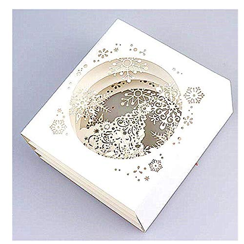 Cutting Dies Snowflake Background Layering die cuts for Card Making Tools Scrapbooking DIY Decoration(2PCS/Pack Christmas Background)