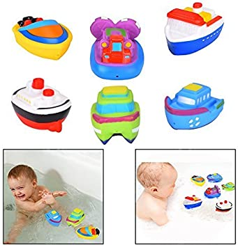 Nuby Bath Boat Floaties Assorted Designs Toddler Squirt Fun Toys Pack 2