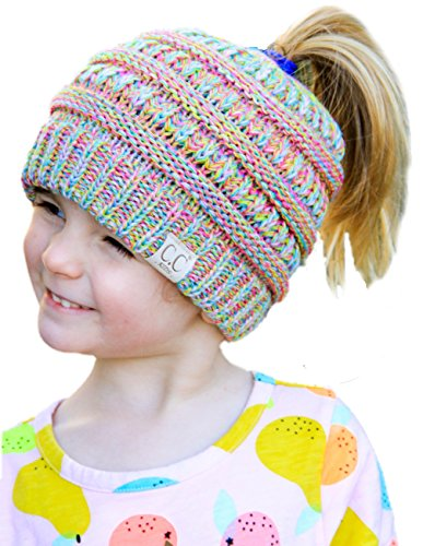 Kids Beanie Hat (BT2-3847-816.41 Four Color Children's Beanie Tails: Rainbow #11)