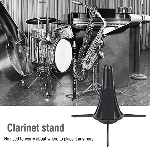 Clarinet Stand Holder Portable Folding Clarinet Tripod Stand Holder for Clarinet Flute by Vbestlife
