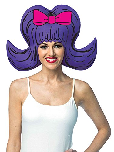 Rasta Imposta Comic Wig - 60s Bouffant,Purple,One Size
