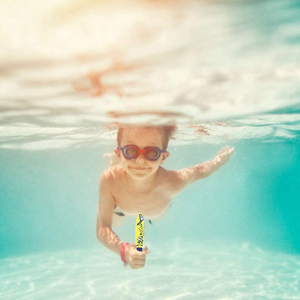 Bnineteenteam Juguetes de Buceo en la Piscina, Juguetes de Torpedo con tiburón para niños, Entrenamiento de Juguetes de Buceo para niños y Adultos (4 Unidades): Amazon.es: Deportes y aire libre