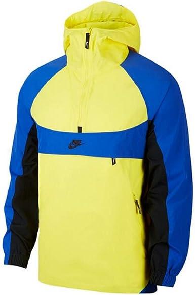 Recoger hojas Bueno inquilino  Nike NSW Re-Issue - Chaqueta cortavientos, Hombre, color Yellow/Royal,  tamaño S: Amazon.es: Ropa y accesorios