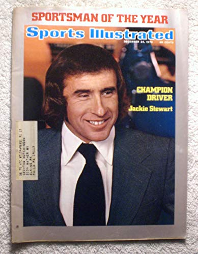 (Jackie Stewart - Sportsman of the Year - Auto Racing - Sports Illustrated - December 24, 1973 - Formula One Racing, Grand Prix - SI)