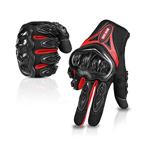 Motorcycle gloves Full finger durable for road racing bike summer spring Powersports support touch screen - Durable Full Glove Finger
